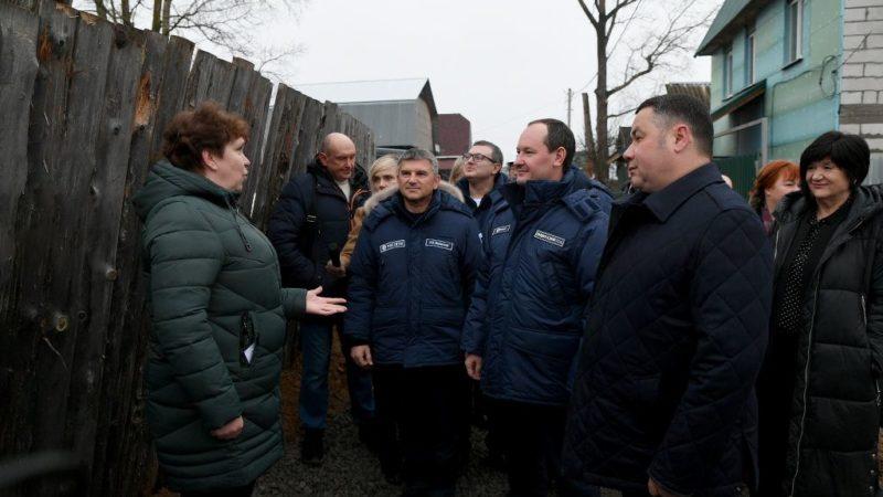 Игорь Руденя и Павел Ливинский в Кимрах проверили выполнение работ для обеспечения надежного электроснабжения жителей