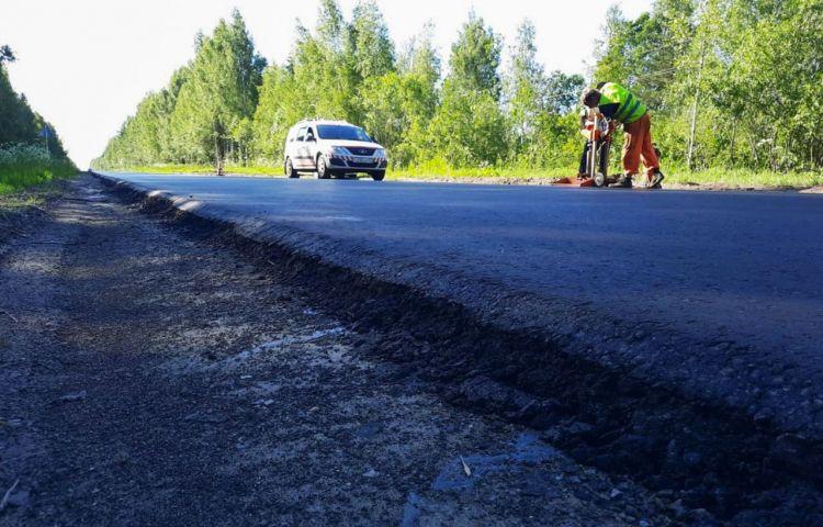 В 2021 году в Тверской области по профильному нацпроекту ремонтируют 27 км автодороги Дубна - Кимры - Горицы
